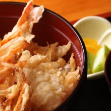 plato camarones tempura arroz