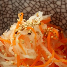 rábano y zanahoria